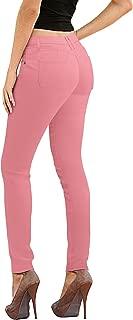 salmon pink jeans