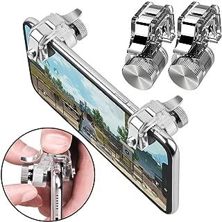 PUBG Mobile Controller, Mobile Game Controller Cellphone Game Sensitive Shoot Aim Keys L1 R1 Mobile for PUBG Gift for Kids (4 Finger)