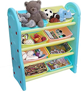eHomeKart Toy Storage Organizer for Kids - Playgro Multi-Purpose Shelves for Storage - 8 Multi-Colour Bins Shelves/Book Sh...