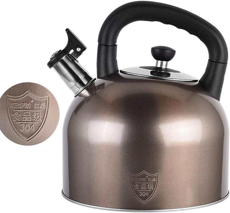 Singing Kettle gaz Grande capacité cuisinière à hot pot 304 bouilloire en acier inoxydable,5l 5l