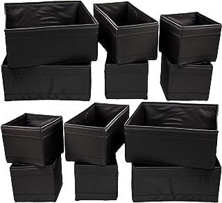 comprar comparacion Caja de almacenamiento desconocida Skubb plegable, accesorio de bastidor, polipropileno, Negro , 12er Set
