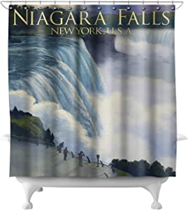 Lantern Press Niagara Falls, New York 28960 (74x74 Polyester Shower Curtain)