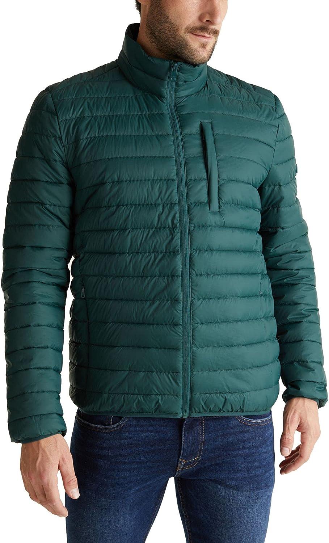 Esprit Men's Puffer Jacket Regular Fit Green in size S
