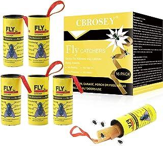 CBROSEY Atrapa Moscas,Trampa Moscas,Caza Moscas,Adhesivo Atrapa Insectos 16 Rollos Atrapa Moscas ...