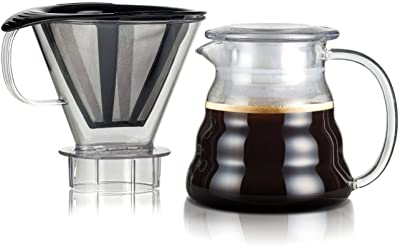 Bodum Melior Pour Over Coffee Dripper, 20 Oz, Black