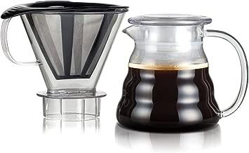 Bodum 11767-10-01S Melior Pour Over Coffee Dripper, 20 Oz, Black