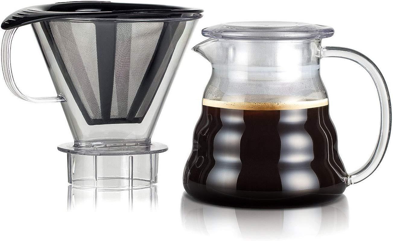 Bodum 11767 10 01S Melior Pour Over Coffee Dripper 20 Oz Black