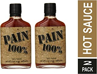 Pain 100% Hot Sauce, 7.5 Ounce ( Pack of 2)