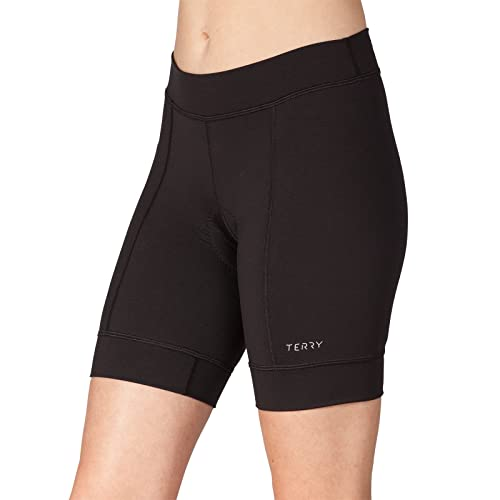 a14eef3effe6 Terry Actif Women's Padded Cycling Shorts - Excellent Wicking Antibacterial  Properties Comfort Chamois Women's Cycling Shorts