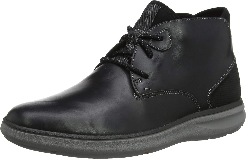 Rockport Men's Zaden Chukka Black Lea Boots