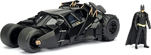 Jada Toys DC Comics 2008 The Dark Knight Batmobile with Batman Figure; 1:24 Scale Metals Die-Cast Collectible Vehicle