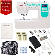 Janome 6100 Computerized Sewing Machine with Exclusive Bonus Bundle