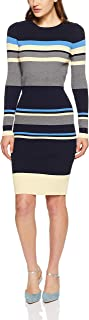 French Connection Women's Coast Stripe Body CON Dress, Nocturnal/Multi