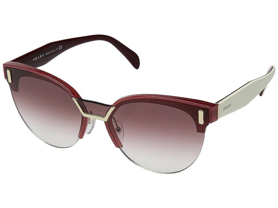 Image of Prada 0PR 04US (Opal Bordeaux/Gradient Pink) Fashion Sunglasses