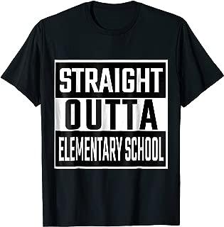 STRAIGHT OUTTA ELEMENTARY SCHOOL Funny TSHIRT for kids