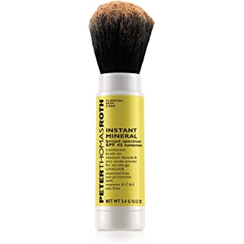 Peter Thomas Roth Instant Mineral Broad Spectrum SPF 45 Sunscreen, Brush-On Sunscreen Powder for On-the-Go UVA/UVB Protection