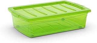 Kis 8631000 0118 04 Boîte de Rangement Spinning Box 30 litres en Vert, Plastique, 58,5x39x16 cm