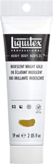 Liquitex Professional Heavy Body Acrylic Paint, 2-oz Tube, Iridescent Bright Gold