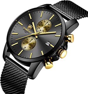 Men's Watches Fashion Sport Quartz Analog Black Mesh...