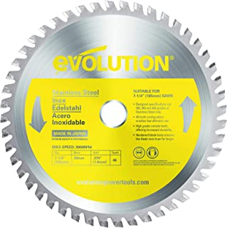 Evolution Power Tools S185TCT-48CS, Stainless Steel, 185mm