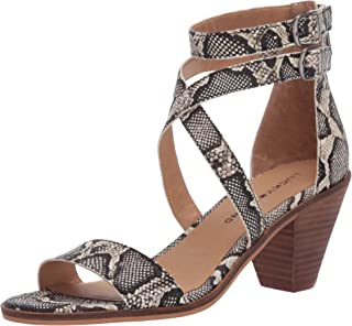 Lucky Brand Women's RESSIA Heeled Sandal, Natural Snake, 8.5 M US