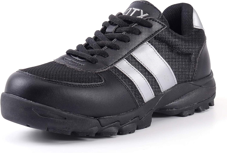 DDTX Safety Work shoes SRC Anti-Slip SBP Metal Free Anti-Smash Anti-Puncture Insulation EH Predection Black 2.5-12UK