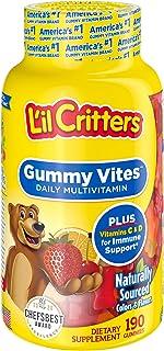 Lil Critters Gummy Vites Daily Kids Gummy Multivitamin: Vitamins C, D3 & Zinc for Immune Support,...