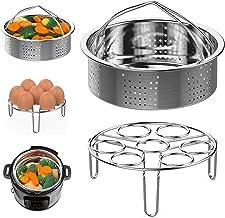 Steamer Basket and Egg Steamer Rack, Packism Stainless Steel Vegetable Steaming Trivet Holder Fit 5qt 6qt Instant Pot acce...