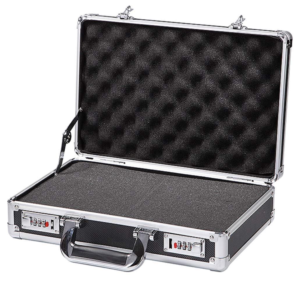 Caso cosmético Organizador Herramienta de Aluminio Caja de la Cerradura Cash Box portátil Maleta Grande Capacidad de la Caja Archivo Flight Case de Aluminio (Color : Black, Size : 36 * 24 * 9.5cm): Amazon.es: Hogar