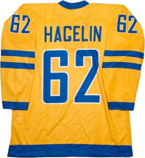 Lutch Team Sweden Carl Hagelin Yellow Hockey Jersey
