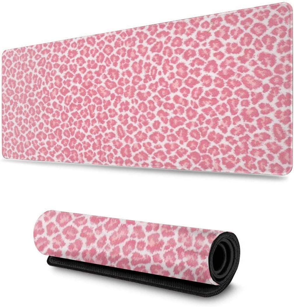 Pink Leopard Philadelphia Mall Print Design Pattern XXL XL Pad Gaming Mouse Large special price