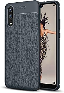 JDYS AYSMG For Huawei P20 Litchi Texture Soft TPU Protective Back Cover Case(Black) (Color : Navy Blue)