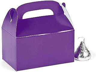 Fun Express Paper Mini Purple Treat Boxes - Pack of 24