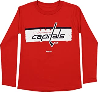 OuterStuff NHL Youth Boys Washington Capitals Honor Code Long Sleeve Tee, Red Large (14-16)