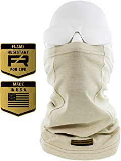 Flame Resistant Face Mask Neck Gaiter, USA Made, 6.4 Cal,...