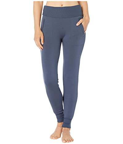 Beyond Yoga Fleece Fold-Over Sweatpants (Nocturnal Navy) Women