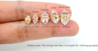 Herkimer Diamond Earrings | Herkimer Diamond Studs | Herkimer Diamond Post Earrings | Tiny, Small, Medium, Large & Extra Large Sizes | Handmade