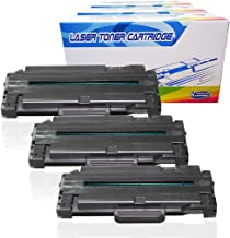 Inktoneram Compatible Toner Cartridges Replacement for Samsung D105L MLT-D105L MLTD105L SF-650 SF-650P ML-1910 ML-1915 ML-2525 ML-2525W ML-2580N SCX-4600 SCX-4623F SCX-4623FN (Black, 3-Pack)