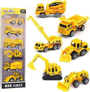 Dreamon Camión de ingeniería Mini Modelos de construcción Vehículo de Construcción Juguete para Niños 3 4 5 años , Conjunto de 6