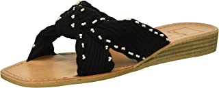 Dolce Vita Women's Haviva Knit Sandals, Black, 7 M US