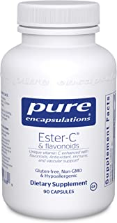 Pure Encapsulations - Ester-C & Flavonoids - Hypoallergenic Vitamin C Supplement Enhanced with Bioflavonoids - 90 Capsules