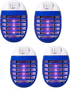 4 Pack Electric Bug Zapper, Plug in Mosquito Killer with UV LED Night Light, Electronic Insect Fly Trap for Indoor Outdoor Us