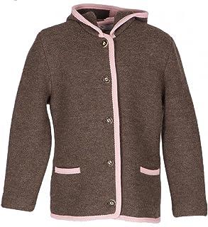 Litzlfelder 3530 7517 - Chaqueta de punto con capucha para niño, color marrón