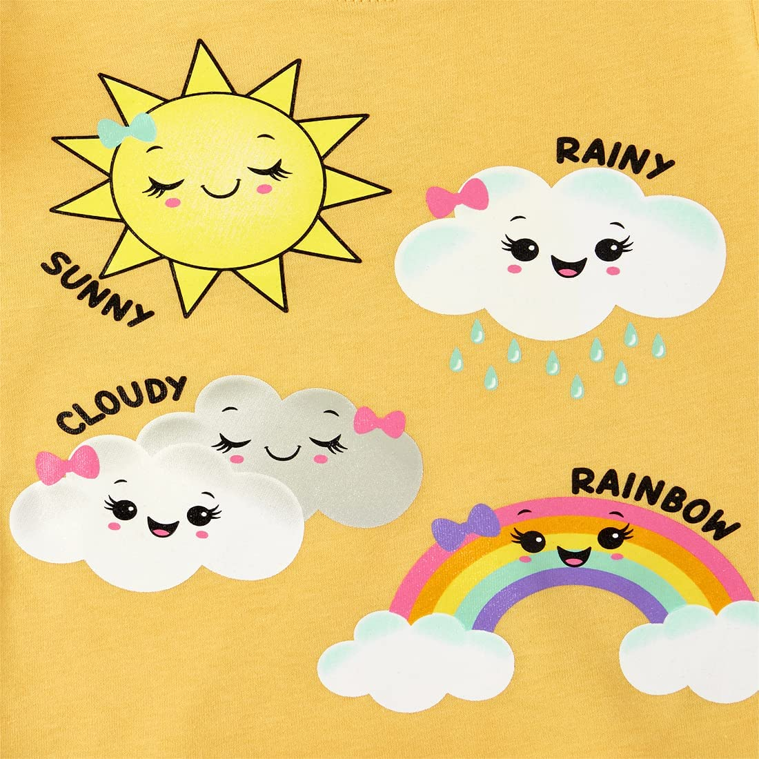 The Children's Place Baby Toddler Girl Short Sleeve Graphic T-Shirt 4-Pack