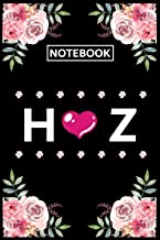 Notebook Z H: Lined Awesome Gift for Monogram first Letter Z H of name alphabet Flowers Notebook, Pretty Floral Diary Jour...