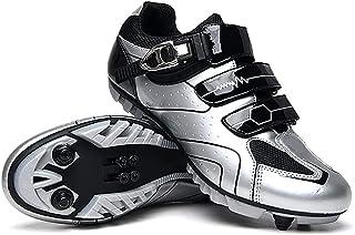 WYUKN MTB fietsschoenen voor mannen vrouwen ideaal voor mountainbikes, cyclo cross country XC fietsen inbegrepen, Silver-37EU