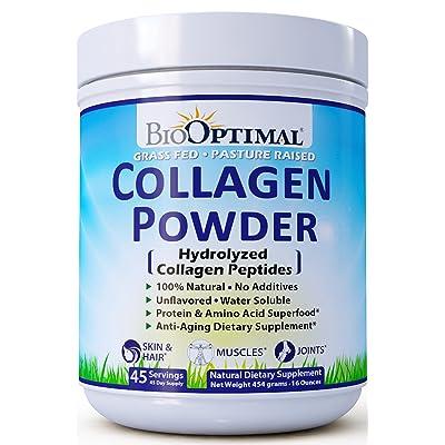 BioOptimal Collagen Peptides, Collagen Powder G...