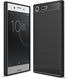 Sony Xperia XZ Premium Case, Ikwcase Carbon Fiber Skin Resilient TPU Shockproof Armor Protective Case Cover for Sony Xperi...