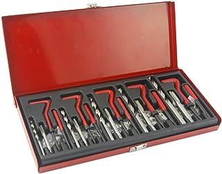 Helicoil Kit, 131pcs Helicoil Thread Repair Kit, Inserts Drill Tap, M5 M6 M8 M10 M12 Rethread Recoil Repair Kit