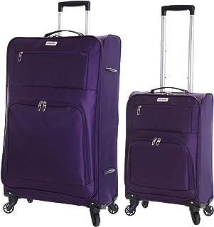 d7dad1ca22 Karabar Bagage Valise Légere à 4 roulettes pivotantes - Ensemble Lot de 2  valises pièces,